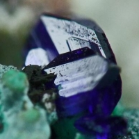 Azurite Aurichalcite & Rosasite On Smithsonite