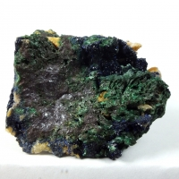 Azurite Malachite On Cuprite