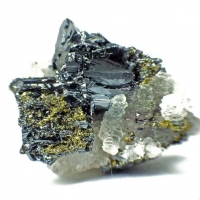 Calcite & Pyrargyrite