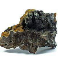 Calcite On Cryptomelane