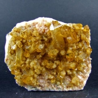 Citrine On Rhodochrosite