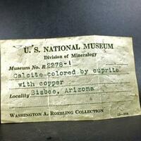 Cuprite In Calcite & Native Copper