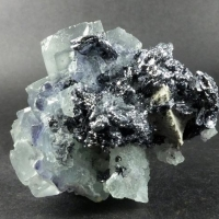 Fluorite On Molybdenite