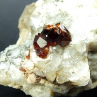 Hessonite On Albite & Quartz