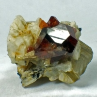 Hessonite On Albite