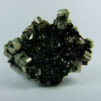 Pyrite & Sphalerite On Manganoan Calcite