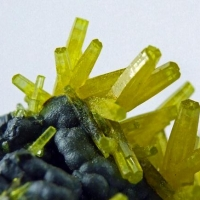 Pyromorphite On Coronadite