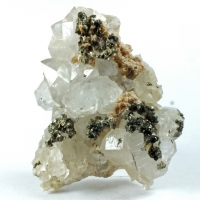Rhodochrosite Pyrite On Quartz