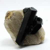 Schorl On Orthoclase
