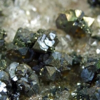 Sphalerite & Chalcocite On Quartz