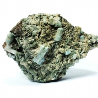 Apatite On Scapolite & Pumpellyite