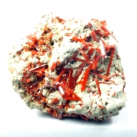 Crocoite On Kaolinite