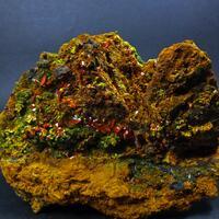 Crocoite On Pyromorphite & Hinsdalite