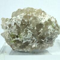 Laumontite & Prehnite On Quartz