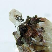 Native Copper In & On Calcite