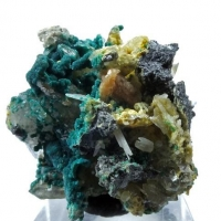 Rosasite & Cerussite On Quartz