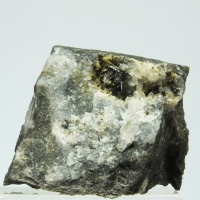 Stibnite & Calcite On Quartz