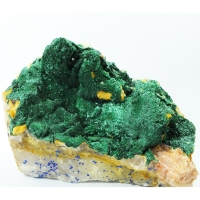 Malachite On Baryte