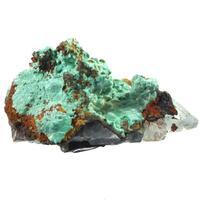 Malachite On Fluorite