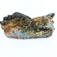 Cyrilovite On Quartz & Hematite