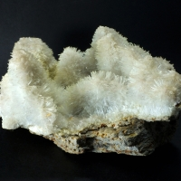 Natrolite Over Calcite