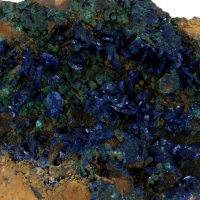 Azurite With Malachite Psm Cuprite