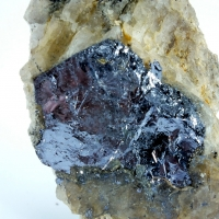 Molybdenite On Quartz