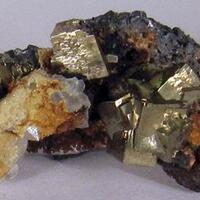 Pyrite Sphalerite Ankerite & Quartz