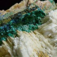 Malachite Baryte & Azurite