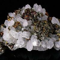 Quartz Chalcopyrite & Pyrite
