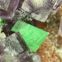 Torbernite Fluorite & Quartz