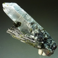 Epidote & Hematite On Quartz