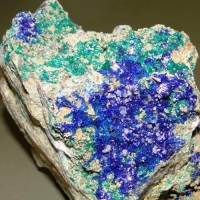 Linarite & Brochantite & Cerussite