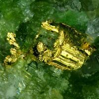 Gold On Uvarovite