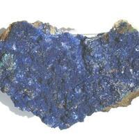 Azurite On Calcite