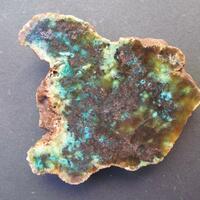 Native Copper With Chrysocolla In Prehnite