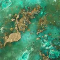 Native Copper In Prehnite