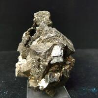 Bismuthinite On Pyrite