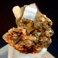 Quartz With Astrophyllite Inclusions & Feldspar