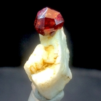 Spessartine Var Garnet With Orthoclase