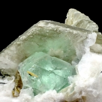 Fluorite With Muscovite & Orthoclase
