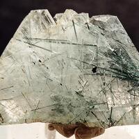 Albite With Actinolite Inclusions