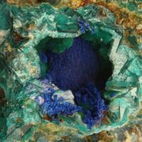 Chalcophyllite Carbonatecyanotrichite & Azurite