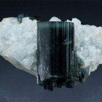 Tourmaline On Albite