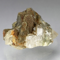 Baryte With Marcasite & Fluorite