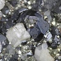 Sphalerite Pyrite Siderite & Quartz