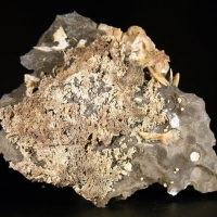 Native Silver In Arsenic With Baryte