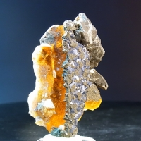 Baryte With Chalcopyrite & Magnetite