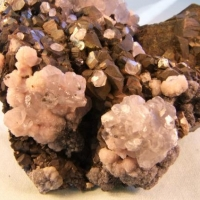 Pyrite Manganoan Calcite & Plumosite