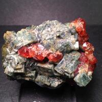Grossular Var Hessonite With Diopside